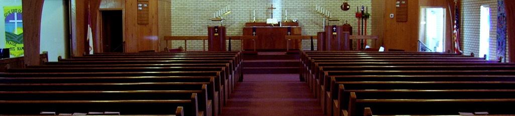 Interior of church in lake ozark mo